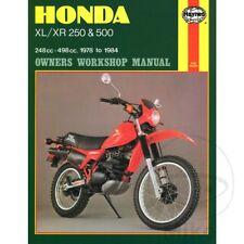 MANUALE DI RIPARAZIONE IN INGLESE PER HONDA XL 500 R PRO LINK 1982-1985