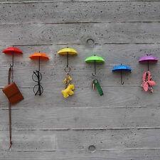Coloré parapluie mur crochet clé porte-épingle porte-organiseur décoratifs
