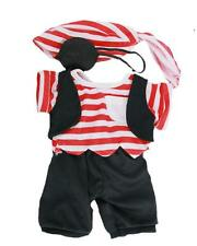 """PIRATE RED STRIPED CUDDLES TEDDY BEAR OUTFIT FITS 15""""-16"""" (40CM)  BUILD A BEAR"""