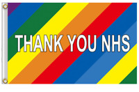 Rainbow Thank You NHS Flag Large 5 x 3 FT Frontline Workers Banner Charity