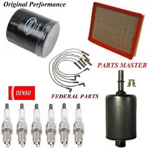 Tune Up Kit Filters Spark Plugs Wire For PONTIAC GRAND PRIX V6; 3.1L 1999-2003