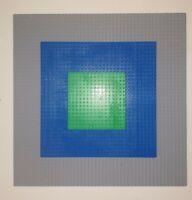 "Lego Base Plates Grey 15"" x 15"" Blue 10"" x 10"" Green 5"" x 5"" Bundle Job Lot"