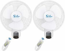 Simple Deluxe 16'' Wall Mount Fans Oscillating Quiet for Home Shop Office 2-Pack
