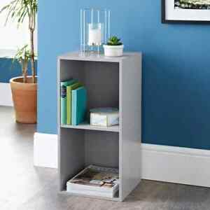 Fabulous 2 Cube Shelving Unit Add Elegant Storage Space To Your Home - Grey