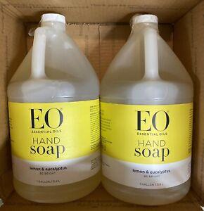 2 - EO Liquid Hand Soap Refill Lemon and Eucalyptus 128 fl oz ea - Free Ship