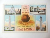 Vintage YOU DON'T KNOW BEANS POSTCARD BOSTON MASS UNPOSTED