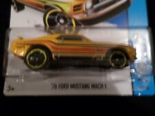 HW HOT WHEELS 2014 HW CITY #97/250 '70 FORD MUSTANG MACH I HOTWHEELS YELLOW VHTF