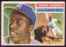 1956 TOPPS HANK AARON CARD NO:31 GRAY BACK EXMINT