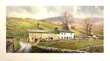 "DUNCAN PALMAR ""Sleep Hollow"" farmhouse dales SIGNED LTD SIZE:46cm x 83cm NEW"
