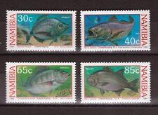 "POISSON JEU DE 4 MNH timbres 1994 Namibia 1918-20.3cmcoastal pêche à la ligne """