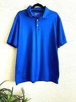 Nike Golf Mens DRI-FIT Blue Short Sleeve Polo Shirt Tour Performance Size L