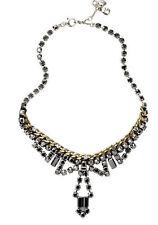 "Fossil Brand Brass Ox-Tone ""Vintage Granny"" Hematite Crystal  Necklace $85"
