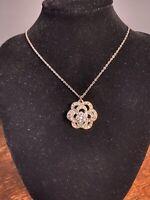 Vintage Diamanté Necklace 80's bling