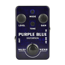 Musiwewe Purple Blue Guitar Distortion Effect Pedal
