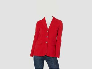 Ralph Lauren Womens Red Solid Blazer Wear To Work Coat PS
