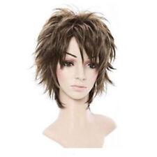 Fluffy Short Curly Light Brown Lady Full Wig New Stylish Short Women Hair Z5E3