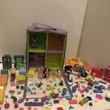 Vintage Polly Pocket Trendy Townhouse Lot Dolls Car, Jet ski 100+ Accessories