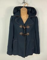 WOMENS NEW LOOK SIZE UK 10 DARK BLUE NAVY CASUAL HOOD WINTER DUFFLE COAT JACKET