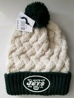 Womens NFL NEW YORK JETS KNIT CAP TOBAGGAN Cuffed