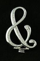 Silver Rhinestone Monogram Wedding Cake Topper Top Letter Initial Number Heart