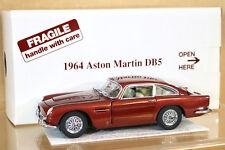 DANBURY MINT 1/24 1964 ASTON MARTIN DB5 DUBONNET RED BOXED ni