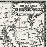 The Shipping Forecast Map - Fine Art Prints by Manuscript Maps