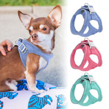 Soft Suede Dog Harness Reflective Small Medium Puppy Dogs Step-in Walking Vest