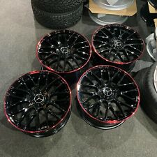 """Ex Display 19"""" Mercedes AMG C63S Red Lip Style Alloys C-Class E-Class + more"""
