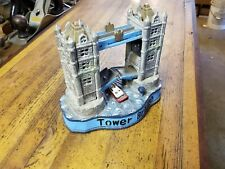 Vintage Antique Mechanical Cast Iron Bank TOWER BRIDGE Coin Bank Collectible Toy