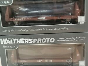 Walthers 50 Sieco Pulpwood Flatcar Norfolk Southern/CSXT #111326#408600 Pack 2