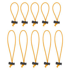 Multipurpose 3mm Toggle Tie/Elastic Cable Tie&Organizer (5x 25CM+5x 16CM Orange)