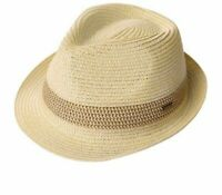 Summer Women Men's Fedoras Straw Hats Short Brim Adjustable Casual Trilby Panama