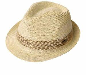 Verano Mujer Hombre Fedoras Paja Sombreros Ala Corta Ajustable Informal Panamá