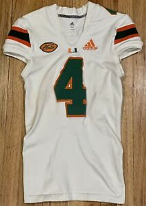 Miami Hurricanes Game Used #4 Adidas Jersey Game Worn Knighton Thomas Johnson
