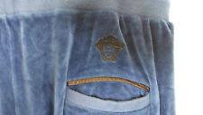 Authentic VERSACE MEDUSA Cotton VELVET VELOUR Track Casual Pants l Large