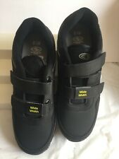 New listing athletic works mens tennis shoes size #8.5 color black wide width new