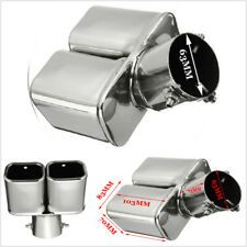 "Stainless Steel 63mm2.5"" Inlet Tail Rear Pipe Tip Muffler Exhaust Silencer Cover"
