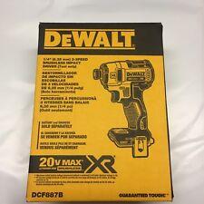 "DeWALT DCF887B 20V Li-Ion XR 1/4""  Cordless Impact Drill Bare brushless NIB"