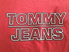Tommy Jeans t-shirt men sz L red/navy/white vtg 90s Hilfiger