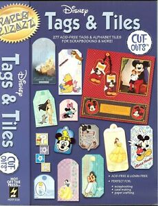 "DISNEY Tags & Tiles Papers 8.5""x11"" Inch Cutouts Paper Crafting Paper Pizazz"