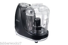 Oster 3-Cup Mini Chopper with Whisk, Black, Model Fpstmc3321 - New In Box