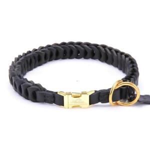 Big Braided Real Leather Dog Collar Choker Medium Large Doberman Boxer Mastiff