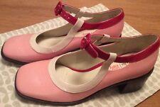 Orla Kiely Clarks Vintage, Retro Style Amelia Pink Shoes Size 3, EUR 35.5