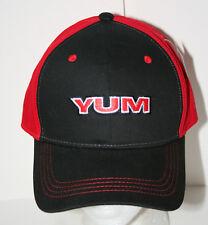 abe2c606491 YUM Baits Hat Cap Fishing Lure Soft Plastic Worm Grub Adjustable Red Black  B8