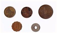 5 Egipto colección de monedas, 10 1277, 1 mil 1917, 1 Fils 1938, 5 Fils 1943 y 1984 #4