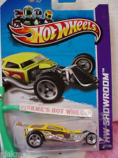 Case N 2013 Hot Wheels SURF CRATE #187 US Team∞Yellow w/Brown Surfboard∞Turbo