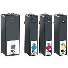 4 CARTUCCE INCHIOSTRO PER LEXMARK 100 XL S305 S405 S505 S605 Pro703 Pro705 pro706