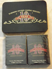 VINTAGE 1993-2003 TURNING STONE CASINO RESORT 10 YEAR ANNIVERSARY PLAYING CARDS