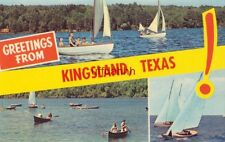 GREETINGS FROM KINGSLAND, TX! sailboats and canoeists