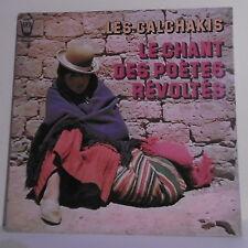 """33T LES CALCHAKIS Disque Vinyl LP 12"""" LE CHANT DES POETES REVOLTES - ARION 34250"""